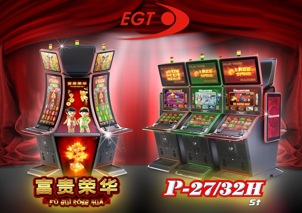 EGT demonstrates thematic jackpots and curved cabinets at PGS 2017