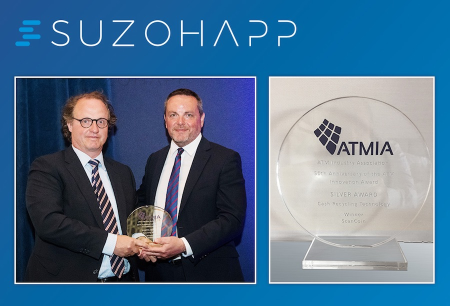 SUZOHAPP crowned at ATMIA for Cash Recycling Technology