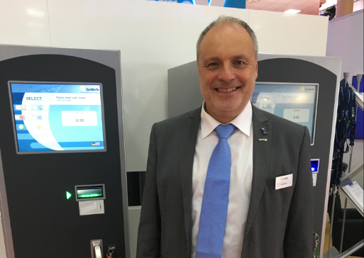 Jens Möller of GeWeTe at the EAE show in Romania
