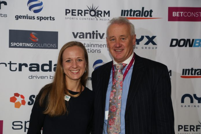 The inaugral day of Sports Betting USA in NYC, with Ewa Bakun, Head of Industry Insight & Engagement at Clarion Gaming and distinguised panellist, Rick Parry
