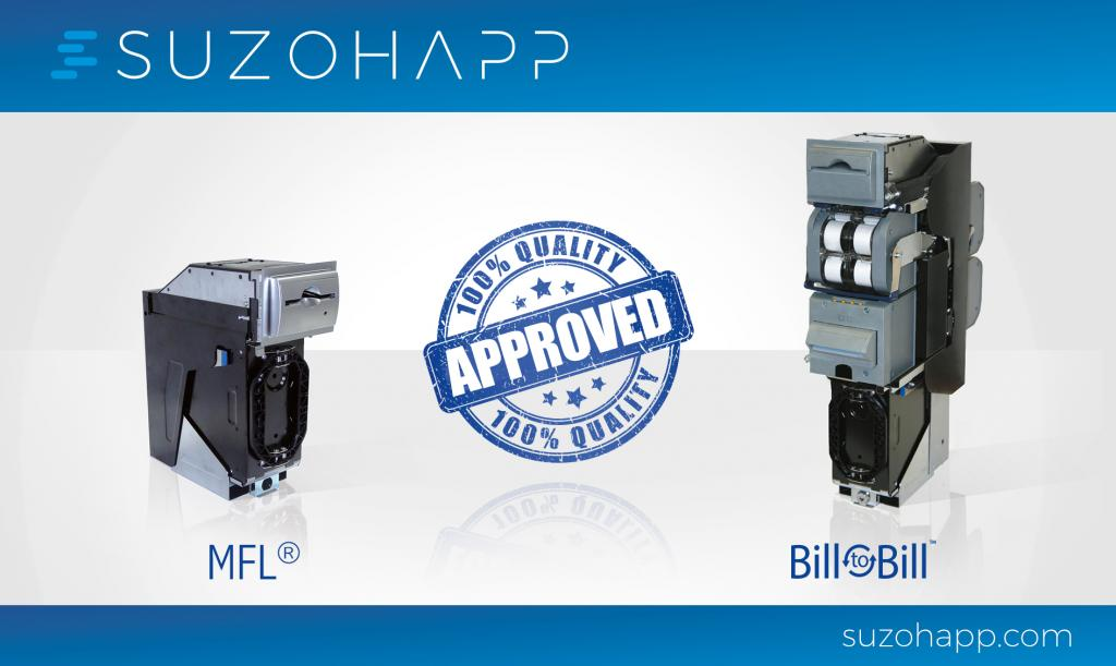 SUZOHAPP Bill-to-Bill™ and MFL® tested by European Central Bank