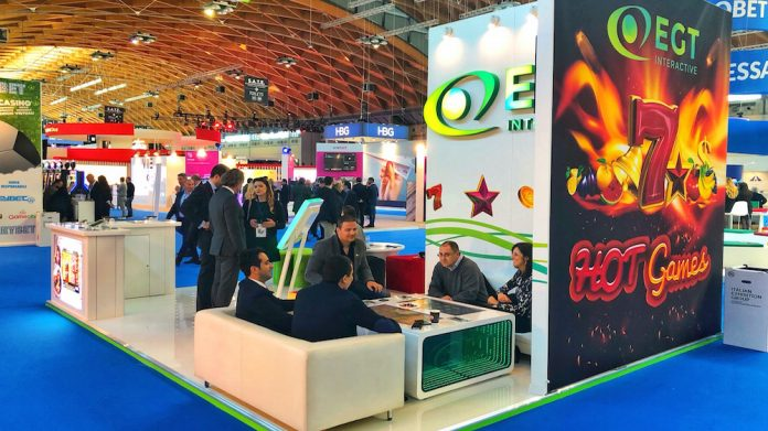 EGT Interactive, exhibitor, ENADA, Rimini, casino video slots