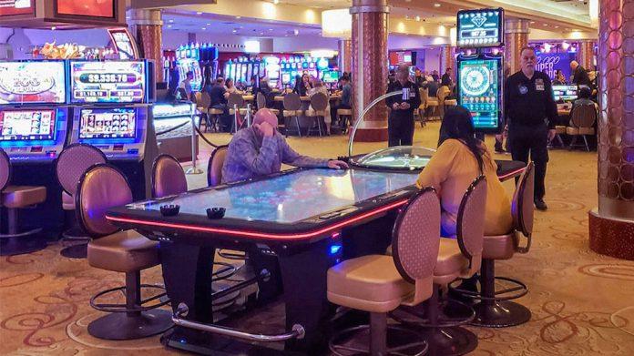 EGT Multiplayer, Roulette Table, T84, Fantasy Springs Resort Casino