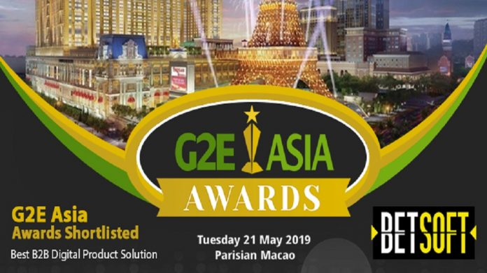 BETSOFT G2E ASIA AWARD