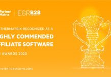 PartnerMatrix Affiliate software EGR Awards