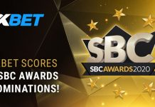 1xBet 6 nominations SBC Awards 2020