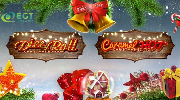 EGT Interactive Christmas slots Dice & Roll Caramel Slots
