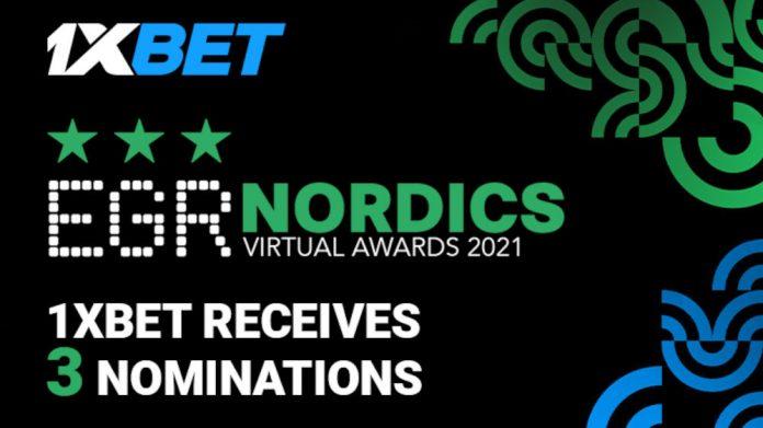 1xBet 3 nominations EGR Nordics Awards 2021