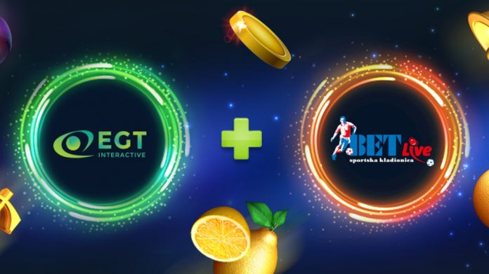 EGT Interactive Bet-Live partnership