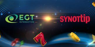 EGT Interactive SYNOTtip partnership