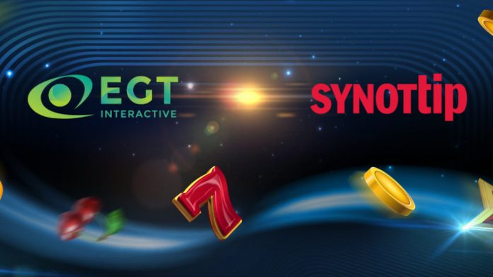 EGT Interactive SYNOTtip partnership