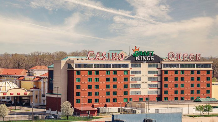 Konami Synkros CMS casino management DraftKings at Casino Queen and Casino Queen Marquette